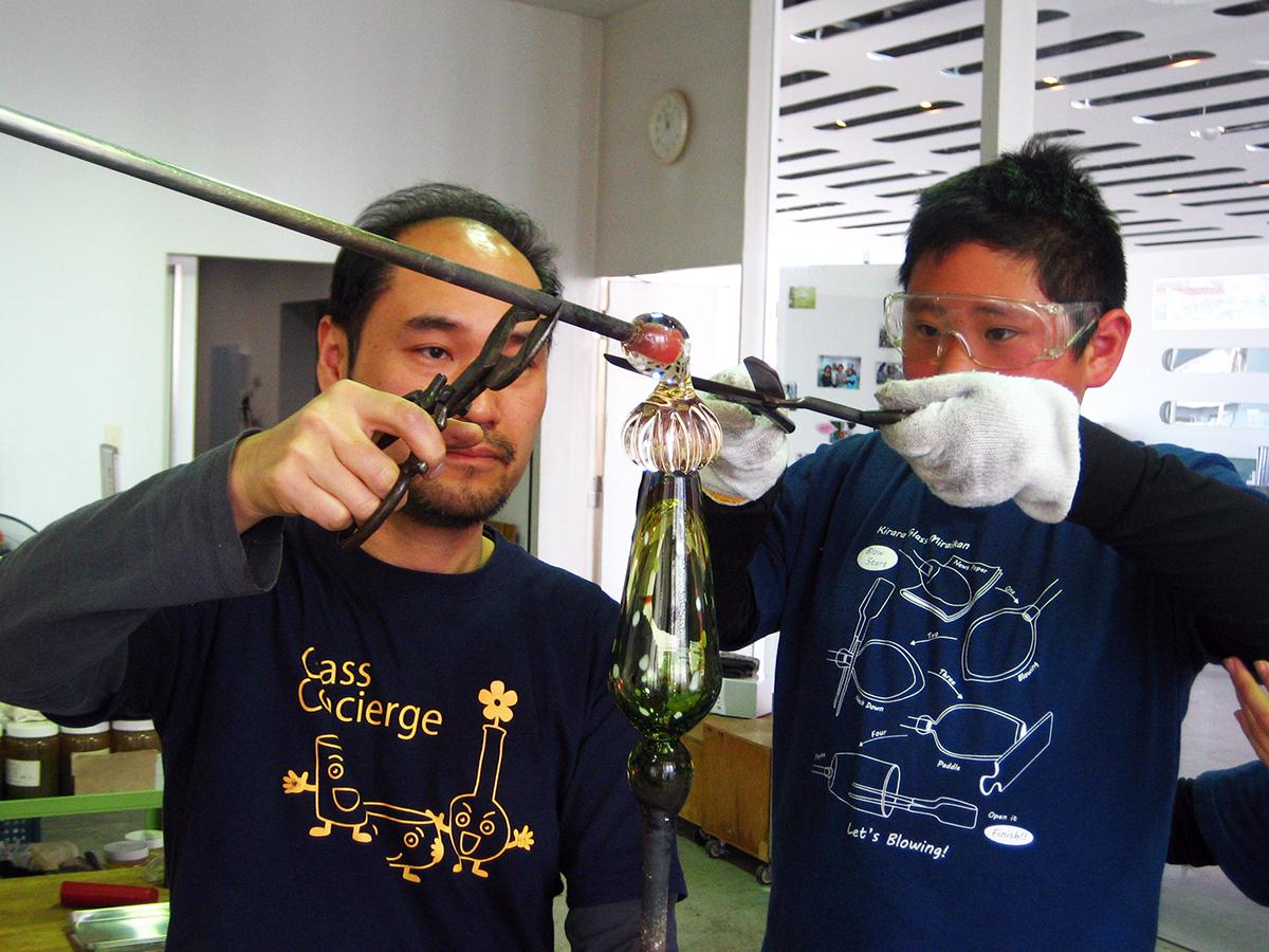 吹きガラス体験Cコース