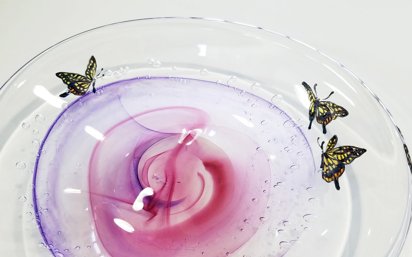 花皿(アゲハ蝶)